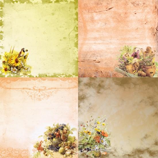 Фоны винтажные - Старый сад