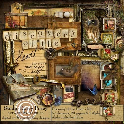 Винтажный скрап-комплект - Открой сердце