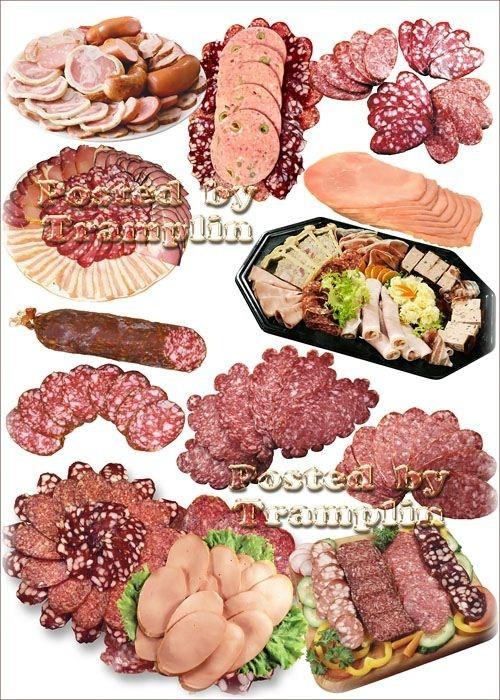 Клипарт Мясо и колбаса – Нарезка