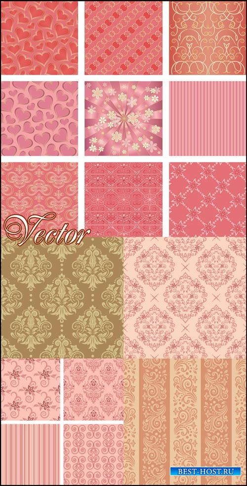 Фоны с узорами и орнаментом / Backgrounds with patterns, floral backgrounds ...