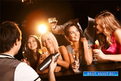Мужской шаблон - На вечеринке с красивыми девушками