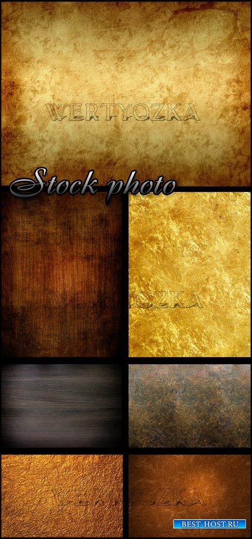 Гранж стиль, текстуры / Grungy texture brown tones - Raster clipart