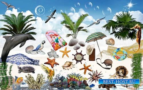 Скрап-набор для фотошопа - Морской