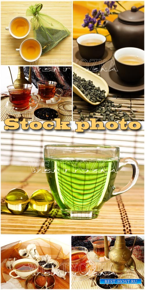 Чашки с чаем, чай / Tea, cup with tea - raster clipart