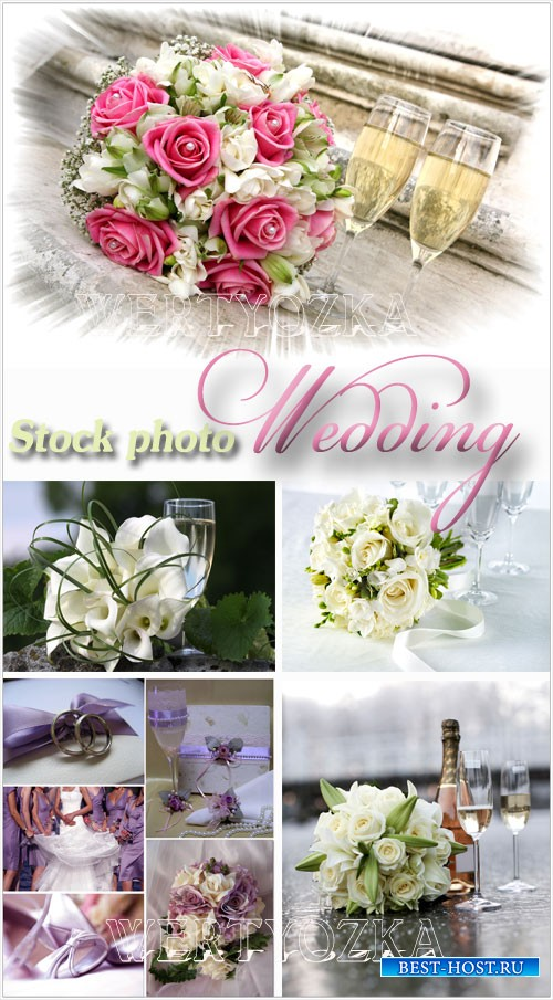 Свадебные коллажы / Wedding collages, wedding - Raster clipart
