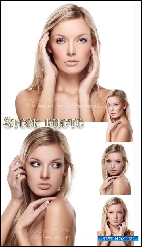 Нежная блондинка / Gentle blonde girl - Raster clipart