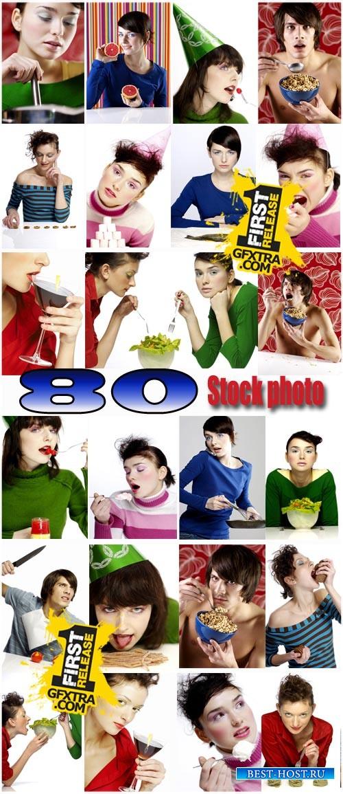Люди и еда / People and food stock photo
