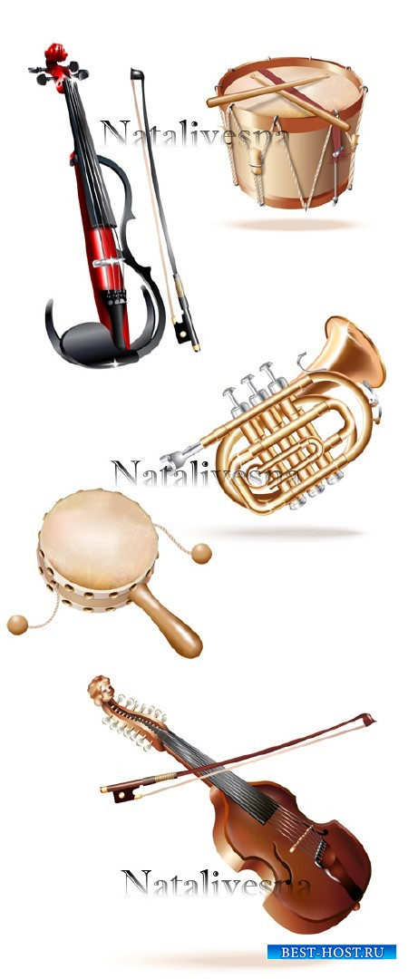 Музыкальные инструменты в Векторе / Musical instruments in Vector