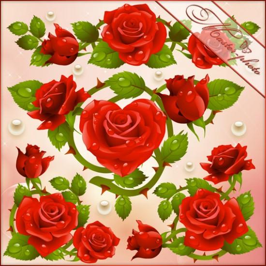 Исходник PSD для photoshop - Рай из роз