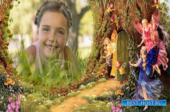 Рамка детская - Сказок полон лес чудесный