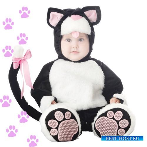 Детский шаблон - Маленький котёночек