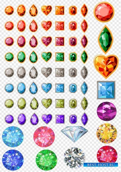 Клипарт - Украшение драгоценные камни бриллианты на прозрачном фоне