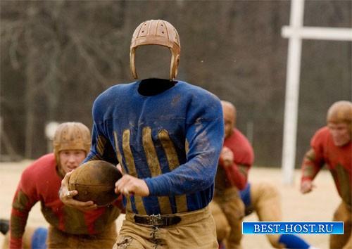 Шаблон мужской - Футболист в американском футболе