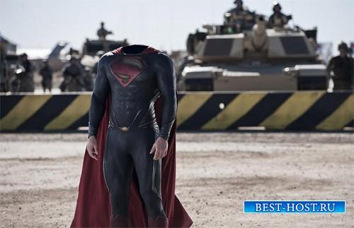 Шаблон для мужчин - Костюм супермена