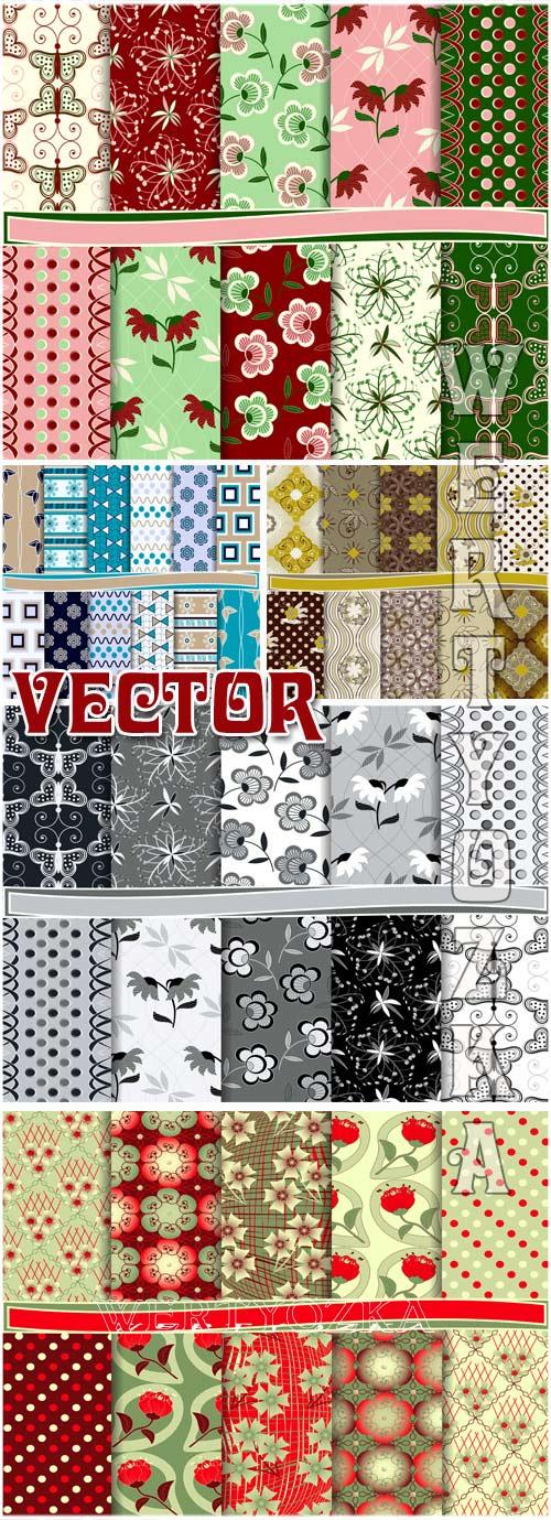Цветочные текстуры  / Floral texture - vector clipart