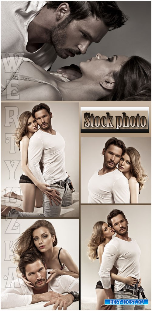 Влюбленная пара,  мужчина и женщина / Loving couple, a man and a woman - Raster clipart