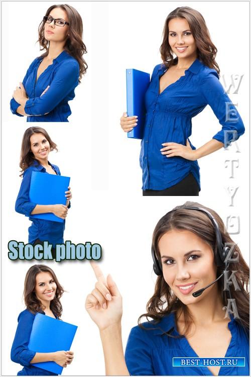Красивая и успешная девушка / Beautiful and successful woman - Raster clipart