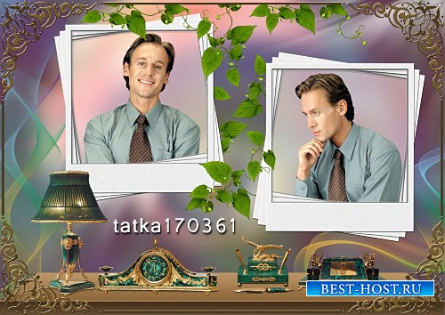 Мужская рамка для фотошопа - Офисный работник
