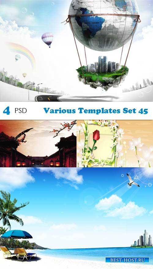 PSD исходники - Various Templates Set 45