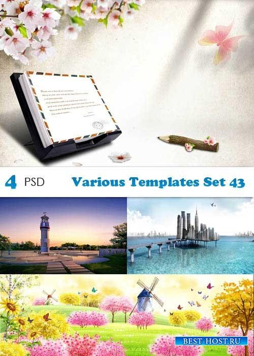 PSD исходники - Various Templates Set 43