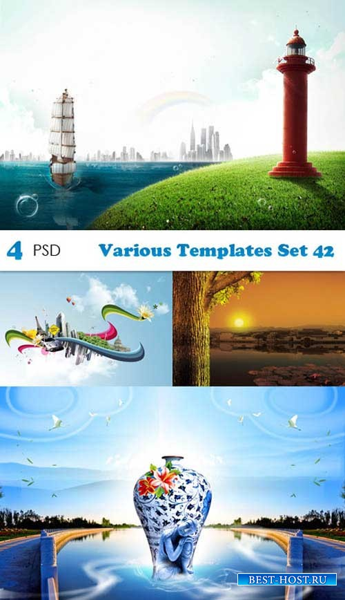 PSD исходники - Various Templates Set 42