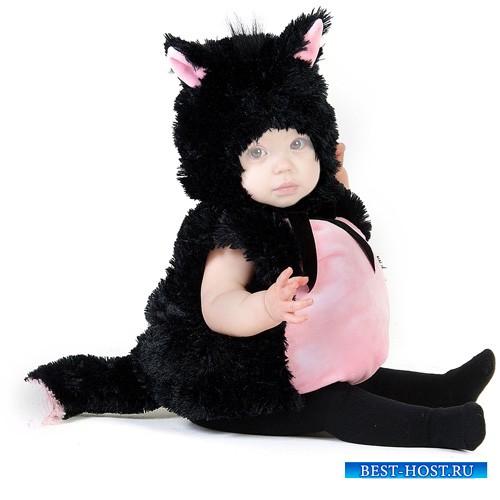 Шаблон для детей - Малюсенький котёнок