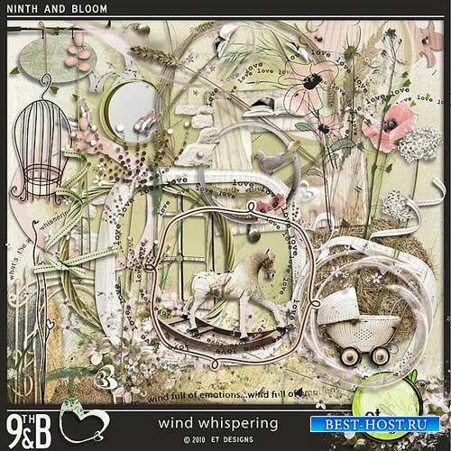 Нарисованный скрап-комплект - Шёпот ветра
