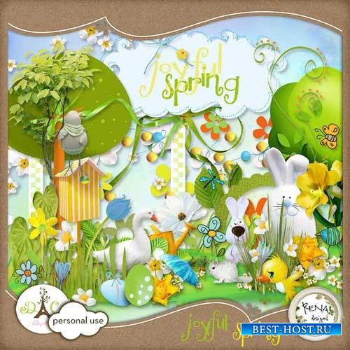 Яркий весенний скрап-комплект - Радостная весна