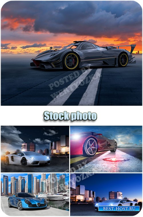 Спортивная машина / Sports car - Raster clipart
