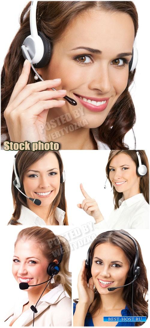Очаровательные девушки операторы / Beautiful girls operators - Raster clipa ...
