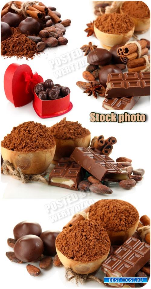Шоколад, конфеты, сладости /  Chocolate, candy, sweets - Raster clipart