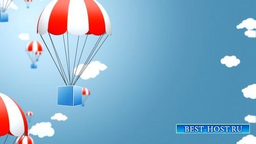 HD футаж Подарки на парашюте MOV
