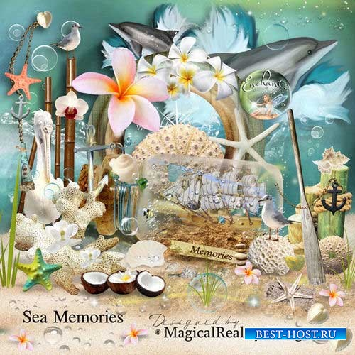 Большой морской скрап-комплект - Морские воспоминания
