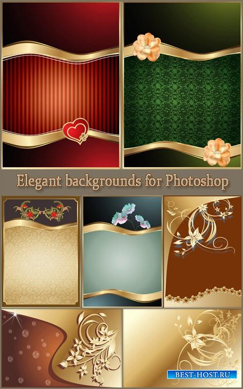 Элегантные фоны из цветами для фотошопа