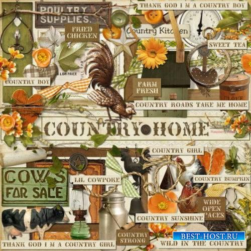 Скрап-комплект на деревенскую тематику - Сельский дом