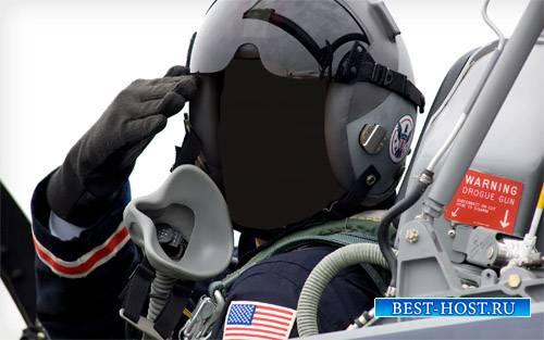 PSD шаблон - Пилот боевого самолета