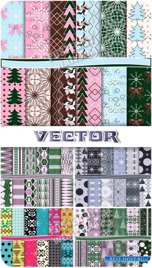 Зимние текстуры / Winter texture - stock vector