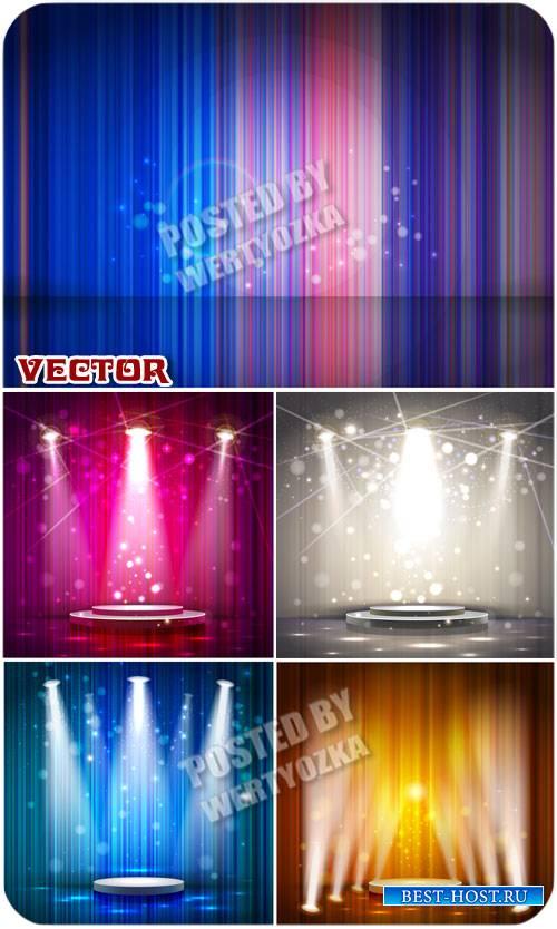 Подиум в свете прожекторов / Podium in the spotlight - vector stock