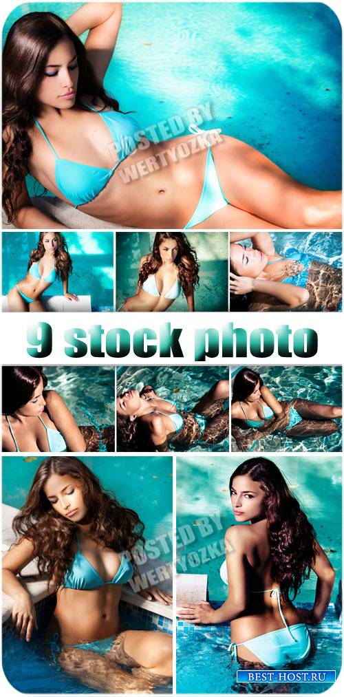 Красивая девушка в купальнике / Beautiful girl in a bathing suit - stock ph ...