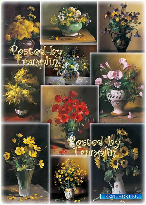 Полевые цветы в вазах -  Тутунов Сергей