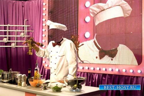 Шаблон для мужчин - Мастер шеф готовит омаров на телевидение