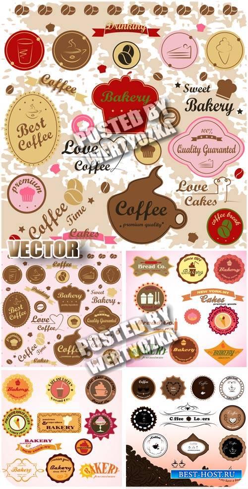 Продуктовые лейбы, набор этикеток / Grocery leib, set of labels - stock vector