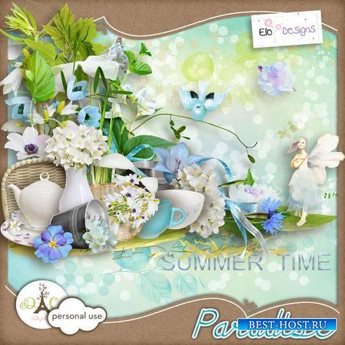 Цветочный скрап-комплект - Рай