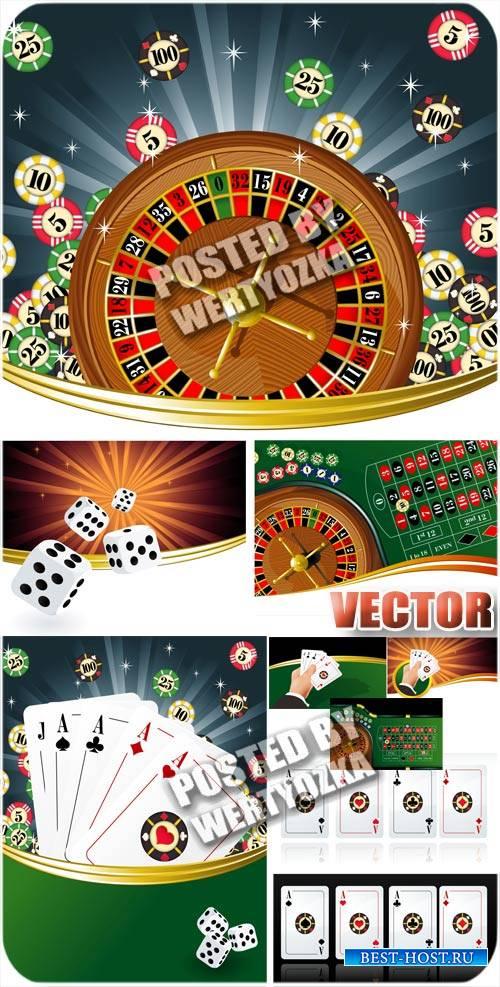 Казино, карты, азартные игры / Casino, cards, gambling - stock vector