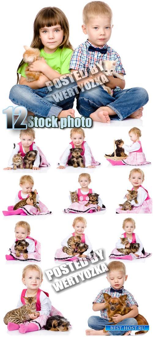 Дети и животные / Children and animals - stock photos