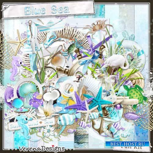 Морской скрап-комплект - Лазурное море