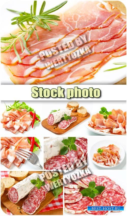 Мясные продукты, колбаса / Meat products, sausages - stock photos