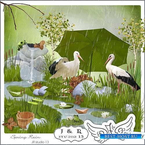 Весенний скрап-комплект - Весенний дождь