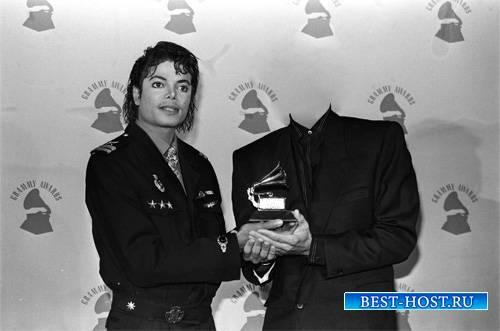 Шаблон для фото - Фото с Майклом Джексоном