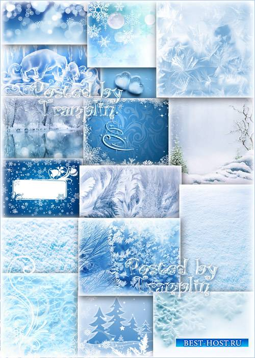 Зимние фоны – Снег, лед, снежинки, лес